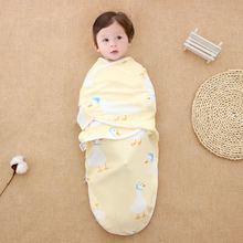 Newborn Baby Swaddle 100% Cotton Infant Muslin Blankets Soft Bedding Bath Towel Printed Sleepsack