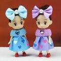 6pc/set 10cm Hot Fashion Doll Playmobil Kawaii Gifts Children Toys Kids Baby Toys Plastic American Girls Dolls Minifigures RT115