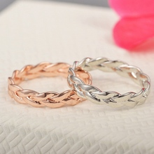 90b7121ca New Fashion Creative Women Simple Winding Twist Rings Rose Gold   Silver  Color Retro Weaving Rings