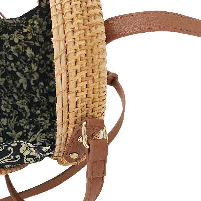 2017 hög kvalitet handgjord rotting runda former axelväskor mode - Handväskor - Foto 3