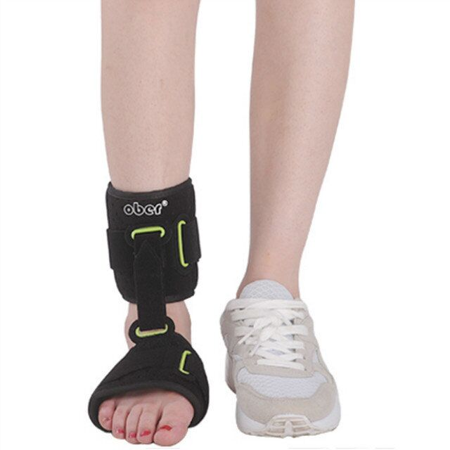 New Adjustable Nightime Ankle Joint Brace Support Orthotics Strap Wrap Plantar Fasciitis Foot Cramps Preventing Foot Drop shuoxin sx662 sports basketball elastic ankle foot brace support wrap black