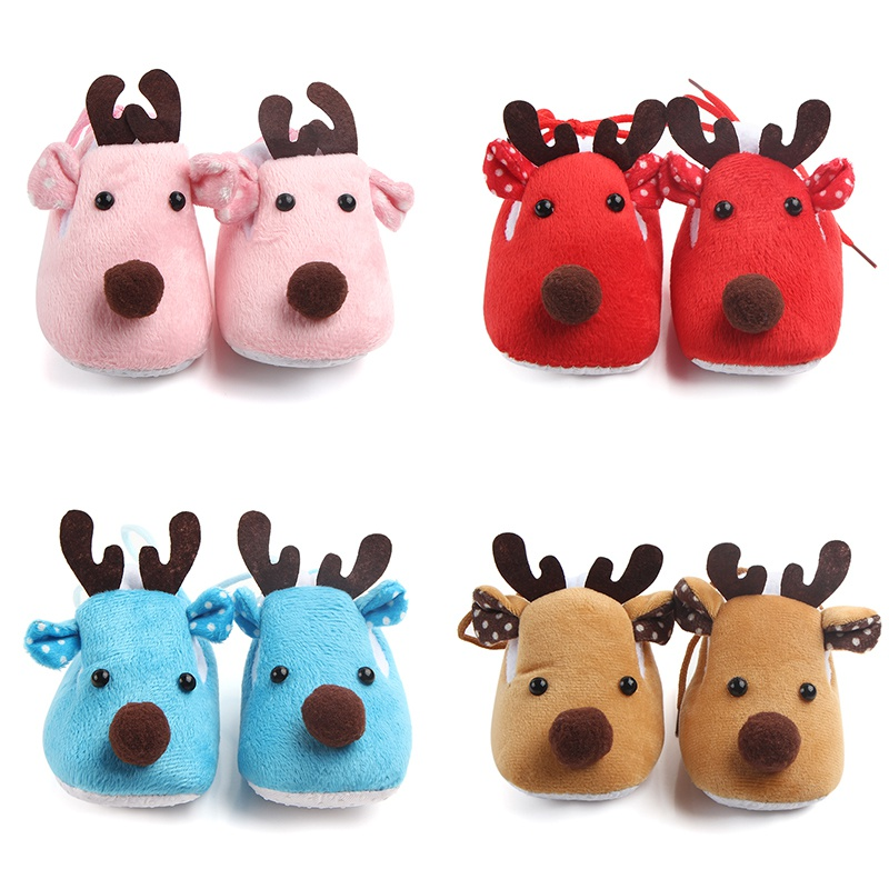 1 Pair Autumn Spring Baby Shoes Kid Girl Cartoon Cute Cotton Cloth First Walker Anti-slip Soft Sole Toddler Fashion Shoes