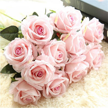 Fresh Pastoral Wind Flannel Feel Rose Wedding Decoration Supplies Simulation Plant Home Crafts Artifical Flowers