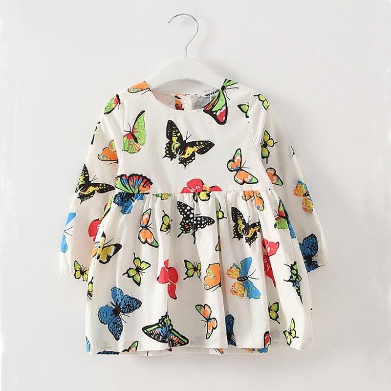 ჱPrimavera niño niña ropa Vestidos 2017 mariposa encantadora patrón ...