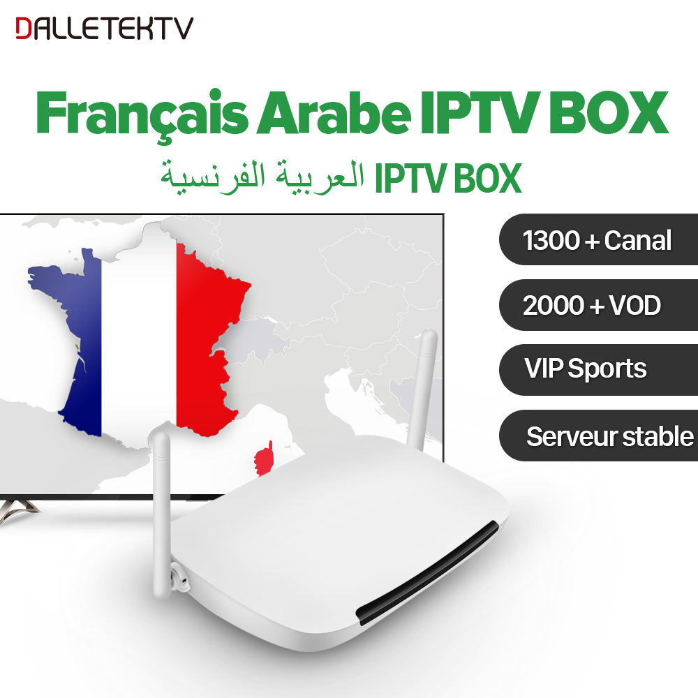 Arabic French IPTV Box Arab France VIP Sports Live 1 Year QHDTV IPTV Subscription Android 6.0 RK3229 IPTV VOD Arabic French movie iptv