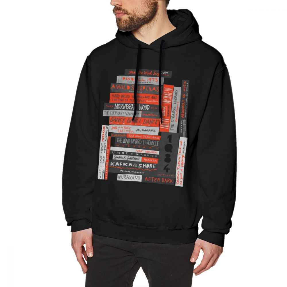 Fanatic Mens Hoodie Murakami Book Stack Fanatic Colour Hoodies Streetwear Nice Pullover Hoodie Cotton Men Big Hoodies