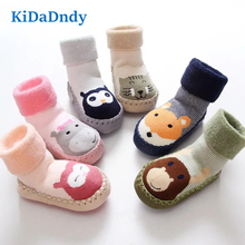 цены Baby Boy Girl Socks Anti slip Rubber Soles First Walkers Floor Toddler Socks GXY045