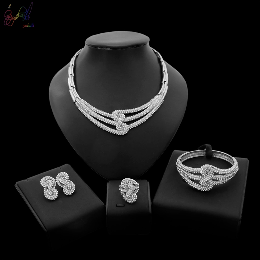 Yulaili New Arrival Europe And America Jewelry Design Simple And Stylish Necklace Four Sets For Women Banquet Party OccasionYulaili New Arrival Europe And America Jewelry Design Simple And Stylish Necklace Four Sets For Women Banquet Party Occasion