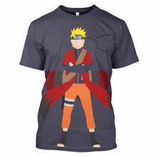 цена на WSFK Naruto Anime T-shirt imprimé 3D Sweat-shirt décontracté à col rond pour hommes