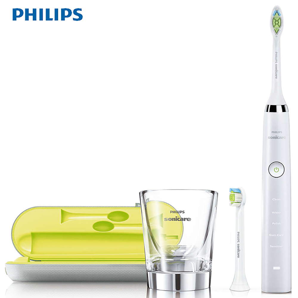 Philips Sonic Electric Toothbrush HX9332/04 with Rechargeable Cup 5 Ways of Cleansing Fine Soft 31000R/M Waterproof Diamondwhit image