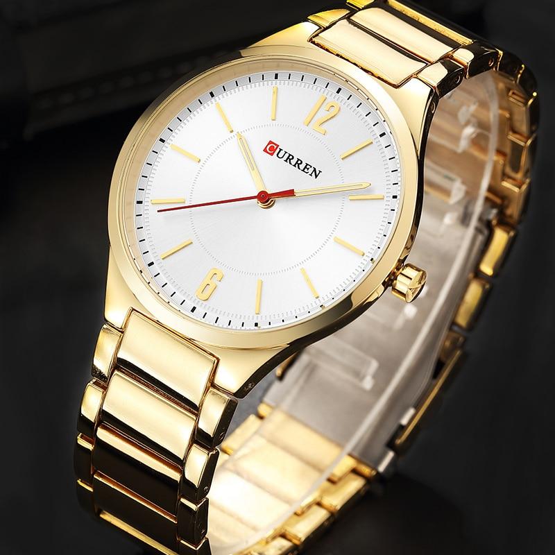 CURREN New Men Watch Top Brand Men's Fashion Gold Quartz Wrist Watches Male Stainless Steel Analog Sport Watch Relogio Masculino