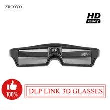 7caa06caa Óculos de Obturador ativo Óculos DLP-LINK 3D 144Hz para Xgimi Z4X/H1/H2/Z5 Optoma  Afiada LG acer H5360 Jmgo Projetores BenQ w107.