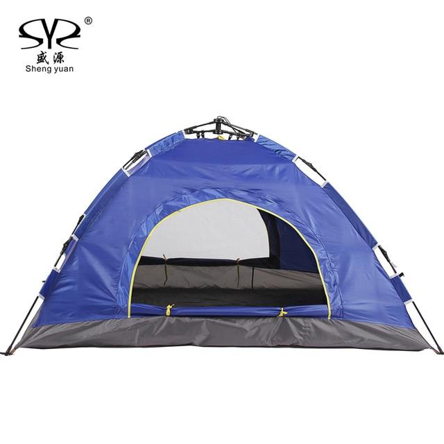2016 Outdoor Beach Tent Pop Up Open 1 2person Quick Automatic Opening Windbreak Waterproof For