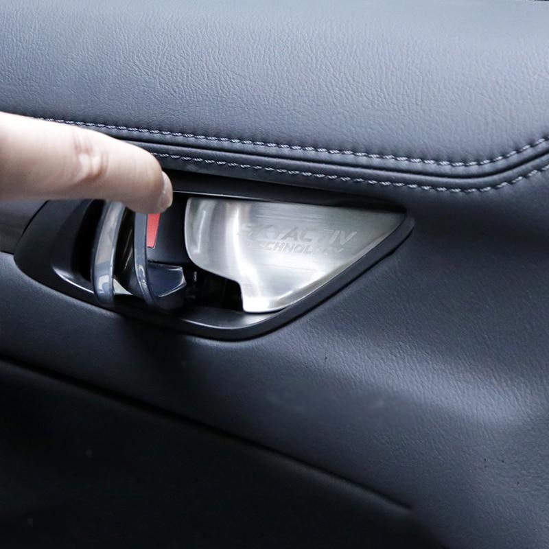 Image 3 - Car Interior Door Handle Bowl Trim Cover Sticker For Mazda 2 3 6 Demio CX3 CX 5 CX5 CX 5 CX7 CX9 MX5 Axela ATENZA 2017 2018 2019-in Interior Mouldings from Automobiles & Motorcycles