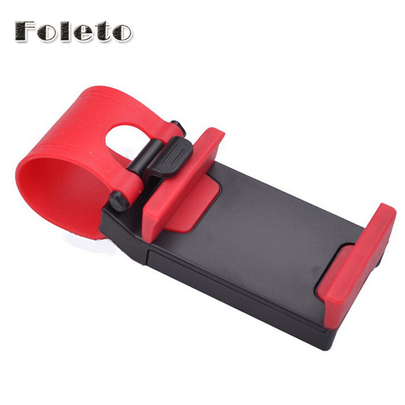 NEW Universal Car Steering Wheel Mount Holder Rubber Band For IPhone IPod MP4 GPS Mobile Phone Holders Free Shipping