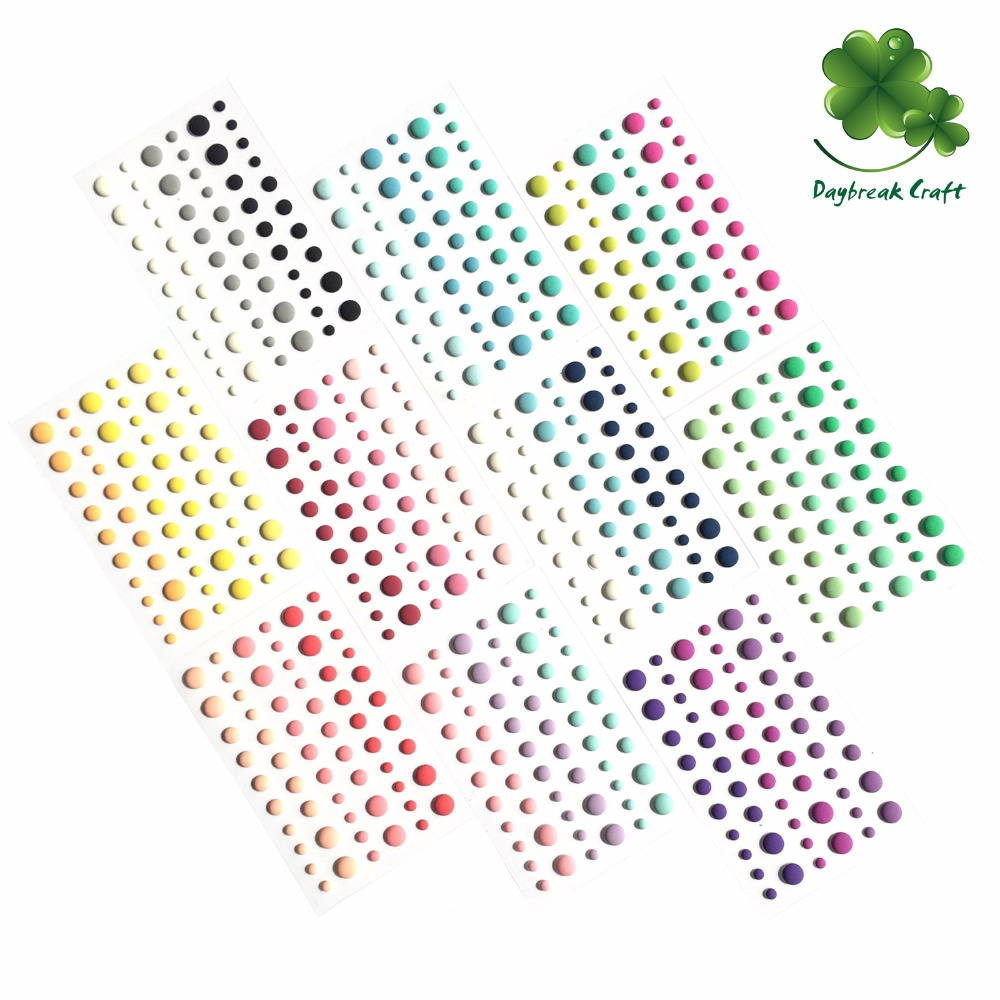 Assort Color China Wholesale Self Adhesive Matte Enamel Dots Sticker