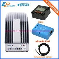 Mppt солнечный регулятор 12 В 520 Вт панелей система беспроводной связи bluetooth 40A регулятор Tracer4215BN MT50 дистанционного метр 24 В Батарея