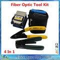 4 En 1 Kit de Herramienta de Fibra Óptica AUA con FC-6S Optical Fiber Cleaver y Cortador de Cable Strippers CFS-2 De Fibra Óptica