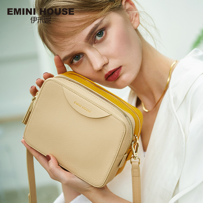 EMINI HOUSE Double Color Zipper Crossbody Bags For Women Shoulder Bag Luxury Handbags Women Bags Designer