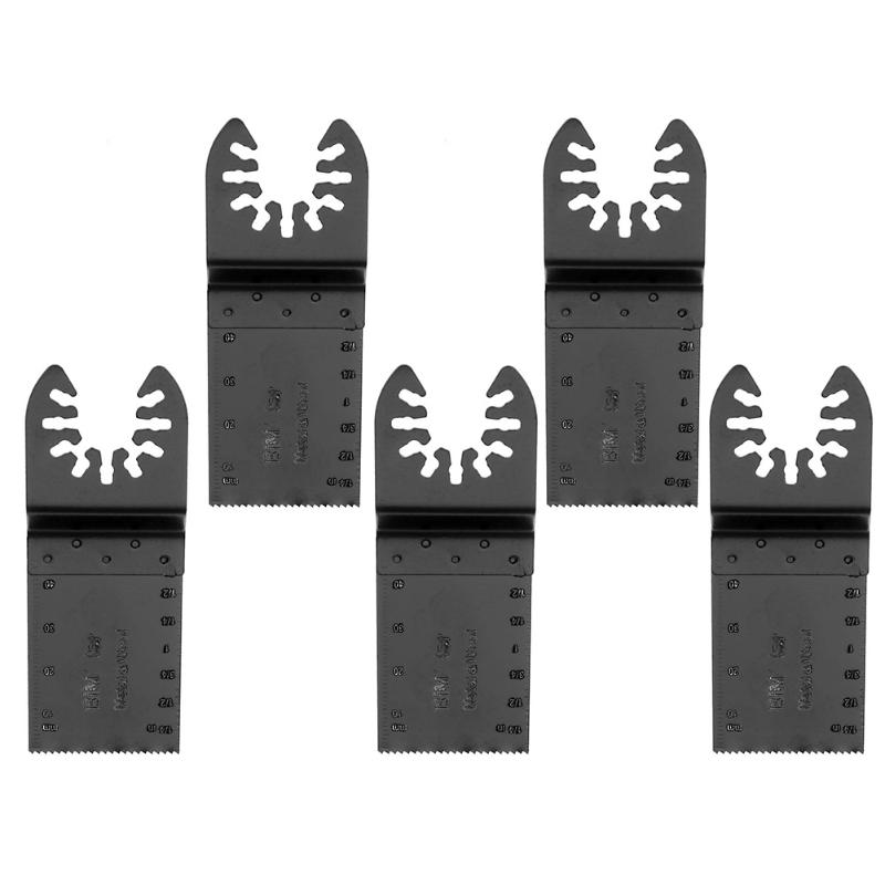 5pcs 32mm HCS HSS Oscillating Multi Tool Universal Woodworking Saw Blades Wooden Saw Accessories Saw Wood Soft Metal Cutter