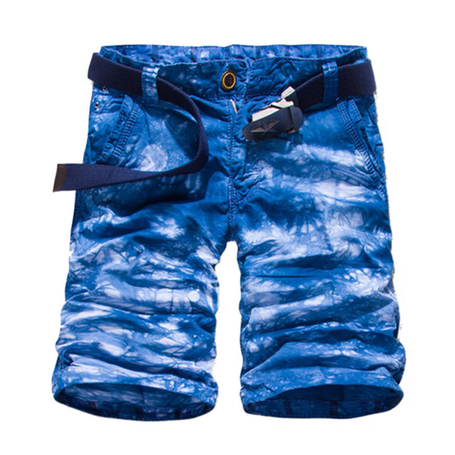 6e02f2a96c5 2017 Nieuwe Blauw/Donkergrijs/Oranje/Rood Camouflage Militaire mannen Zomer  Shorts Hight Kwaliteit