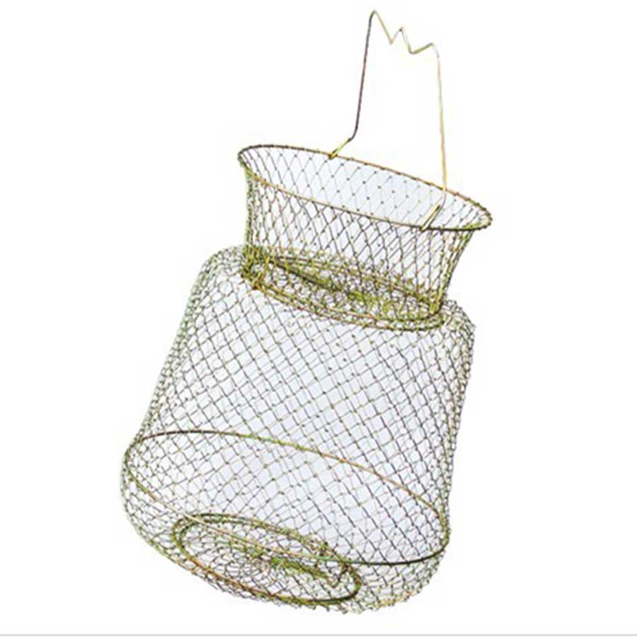 1pcs fish cage wire baskets creel shrimp cage metal for Fish wire basket