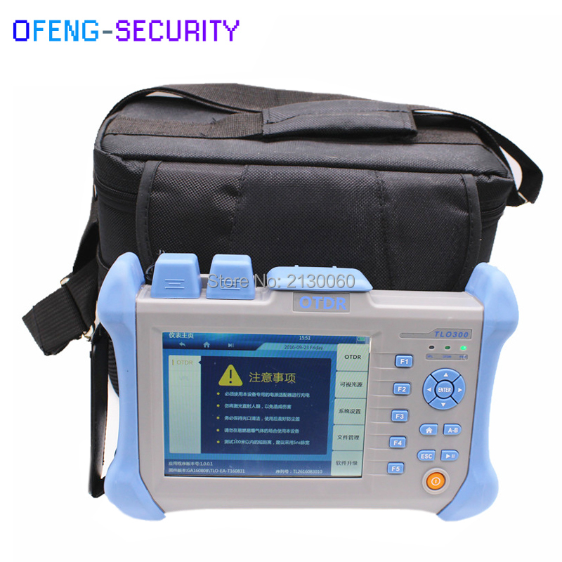 Handheld OTDR TLO-300 OTDR 1310/1550nm 30/32dB,Integrated VFL, Touch Screen Optical Time Domain Reflectometer VFL