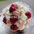 Venta caliente alta calidad boda ramo de gama alta de la cinta del mosaico diamante y perla exquisita nupcial que sostiene las flores SH12