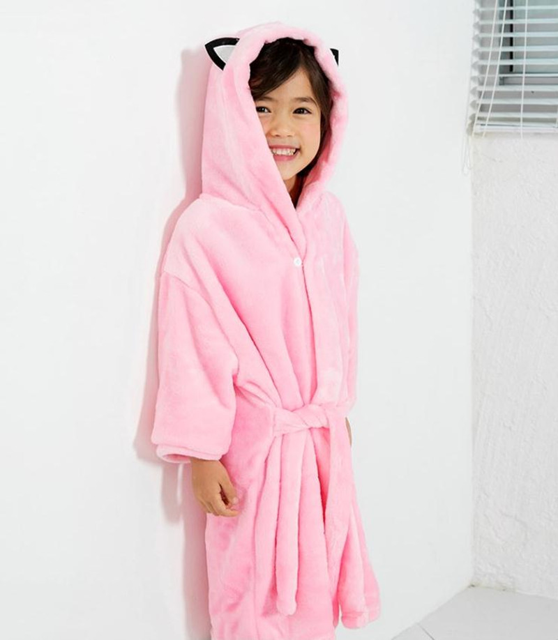 Underwear & Sleepwears Men's Sleep & Lounge Children Hooded Bathrobes Cartoon Kids Robes Flannel Child Boys Girls Robes Lovely Animal Hooded Bathrobe Cartoon Animal Attractive Fashion