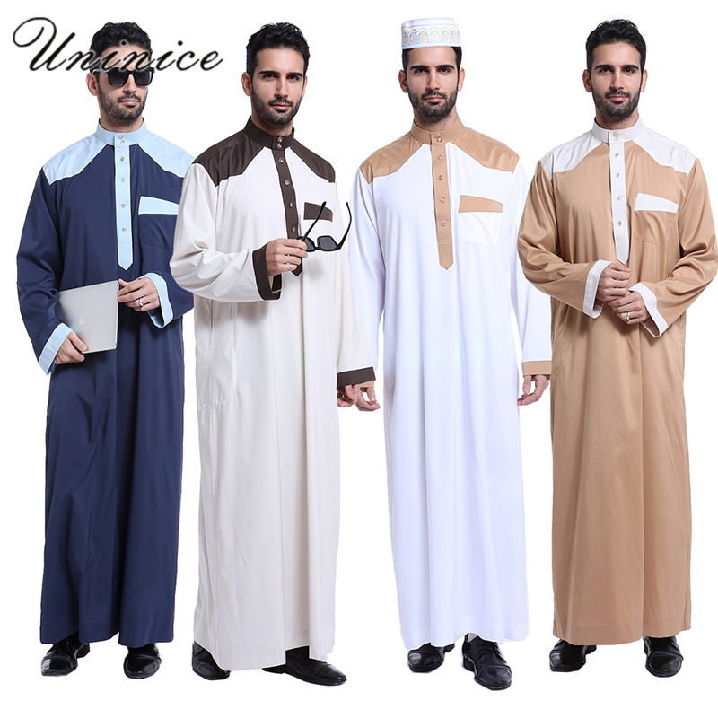 Muslim Clothing Men Arab Clothing Men Fashion Turkey Abaya Casual Maxi Long Dubai Thobe Jubba Pakistan Islamic Men Clothing
