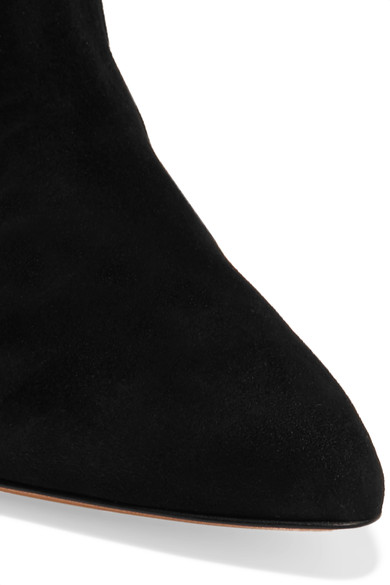 Donne A Nuovo Punta Al Rilassato Ginocchio Del Delle Di Nero Stile Slouchy Inverno Vestito Stivali Modo Spillo Xwr0UIqr