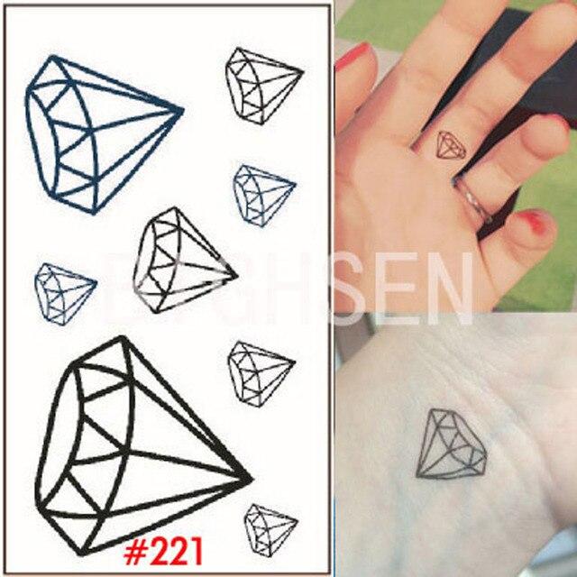 Tymczasowe Tatuaże Diament Dla Kobiet Ciała Naklejki Ramienia Tatuaż