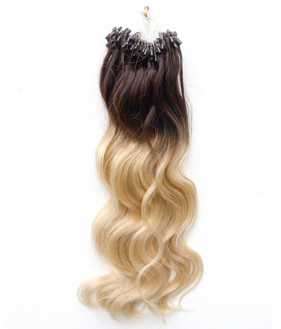 Ombre Color Micro Loop Human Hair Extensions 4613 18 24inch 1g