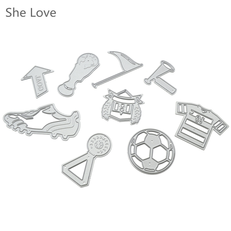⓪She Love Sport ᗗ Series Series Set Metal Cutting Dies