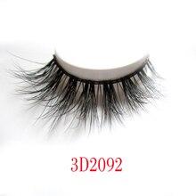 New 3D Fashion Bushy Cross Natural False Eyelashes Mink hair Handmade Eye Lashes 3D Lashes-2092