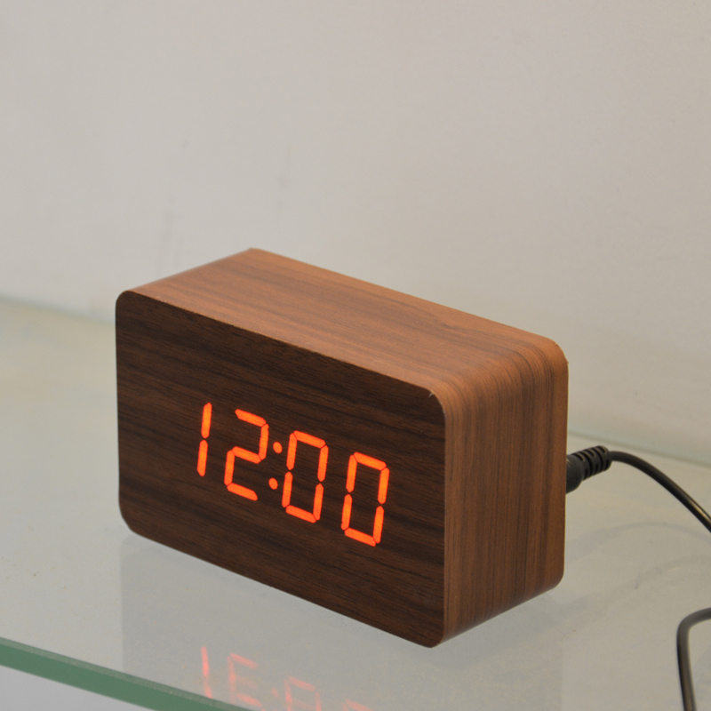 Image result for wooden table digital clock