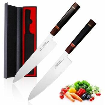 9 인치 일본 요리사 나이프 vg10 블레이드 주방 나이프 고 탄소 다마스커스 스틸 낚시 칼 칼 수제