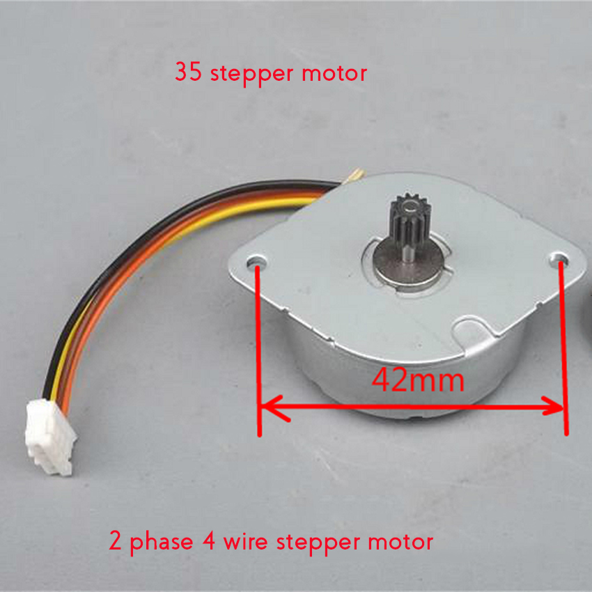 2PCS Minebea 35*10mm 2-Phase 4-Wire 35mm Stepping Motor Step Angle 7.5 Degrees