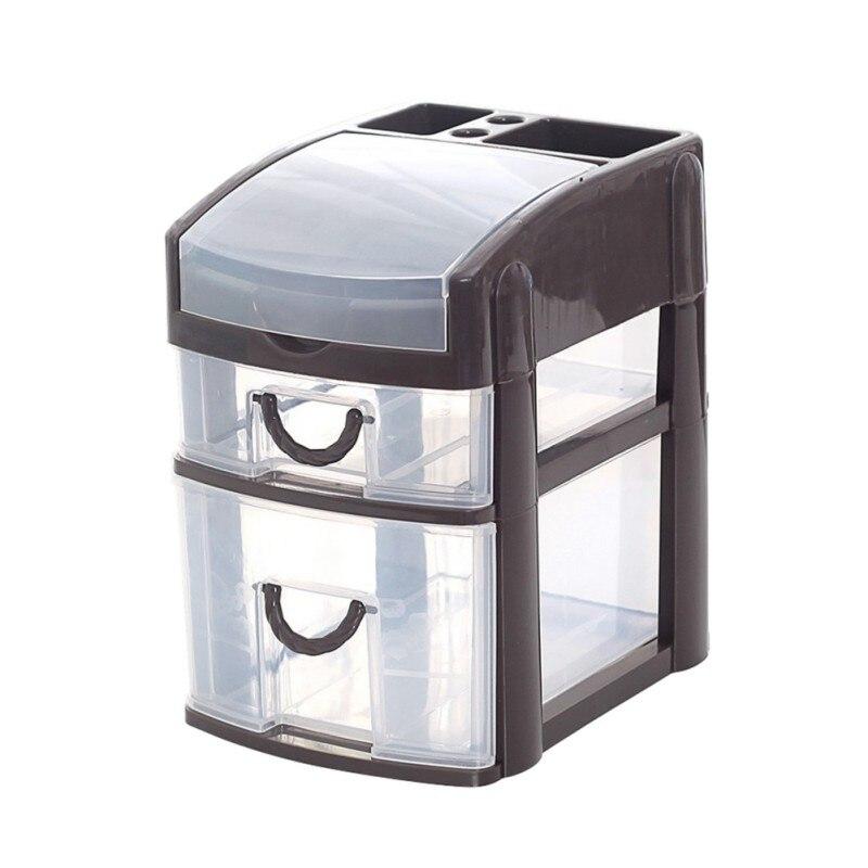Мини рабочего ящика 2 3 слоя коробка для хранения разное Дело мелкие предметы Косметика Box оптом Настольный органайзер дропшиппинг