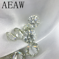 Moissanite Loose Stones 9mm 3ct Yellow Green Color Round brilliant cut moissanites loose stone beads for jewelry
