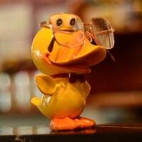 CIEPŁE TOUR Okularów Okulary Stojak Uchwyt Rack Zwierząt Okulary Stojak Żywicy Rzemiosła Domu Decro Słodkie Kaczka Żółta Zwierząt Piękny C