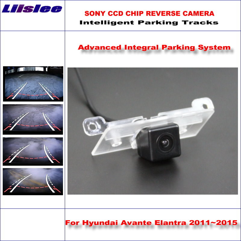 Liislee 860 * 576 Pixels Back Up Rear Camera For Hyundai Avante Elantra 2011~2015 Rearview Parking / Dynamic Guidance Tragectory