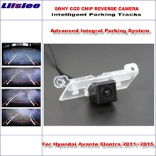 Liislee 860 * 576 Pixels Back Up Rear Camera For Hyundai Avante Elantra 2011~2015 Rearview Parking / Dynamic Guidance Tragectory liislee for hyundai avante elantra hd 2006 2010 4 3 lcd monitor car rearview back up camera 2 in 1 car parking system