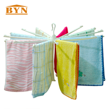 BYN DQ-1003 Balcony Towel Drying Hanger plastic hanging towel rack Windproof umbrella cloth rack folding towel hook