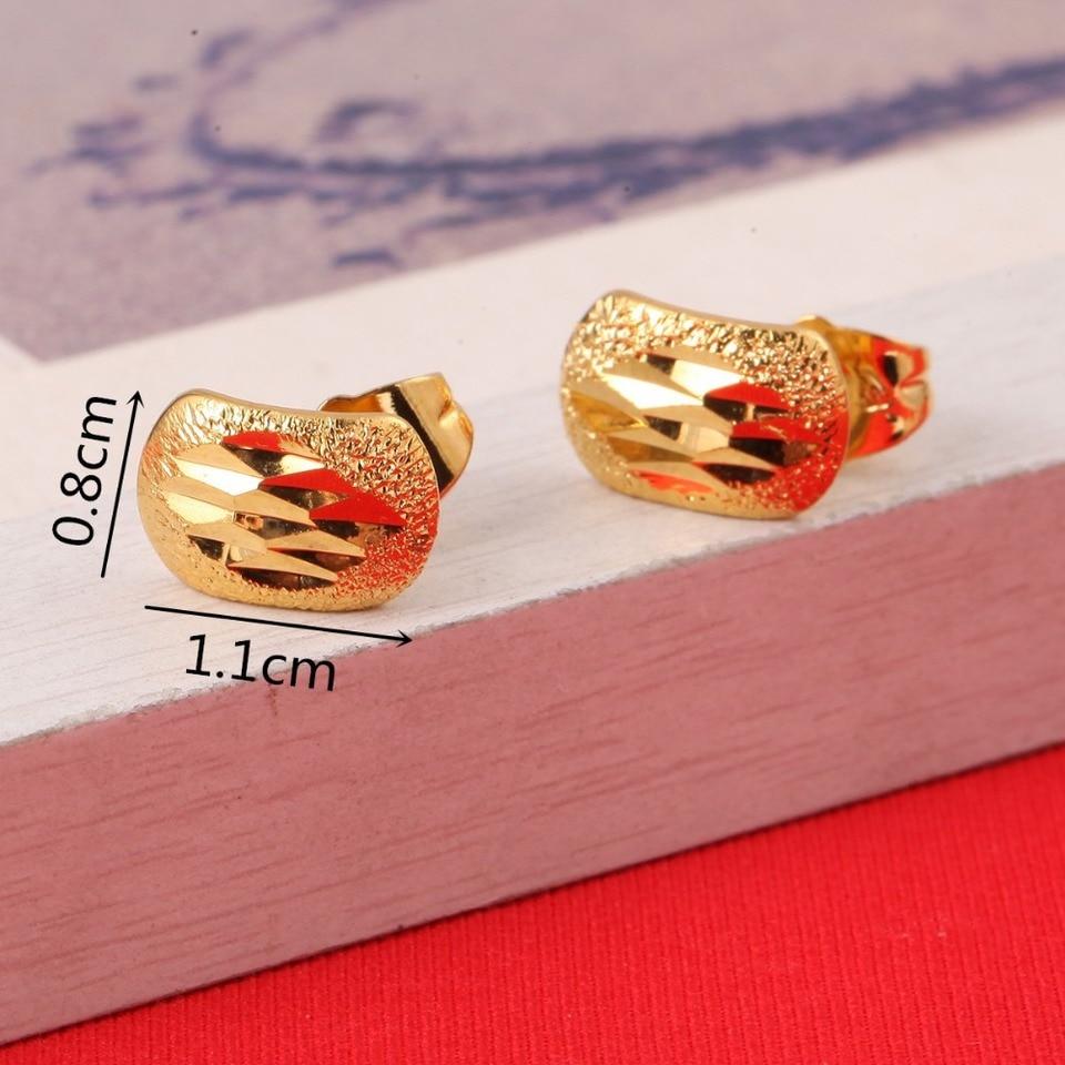 Ethiopian Earrings For Women Girl Baby 22k Gold Color Jewelry