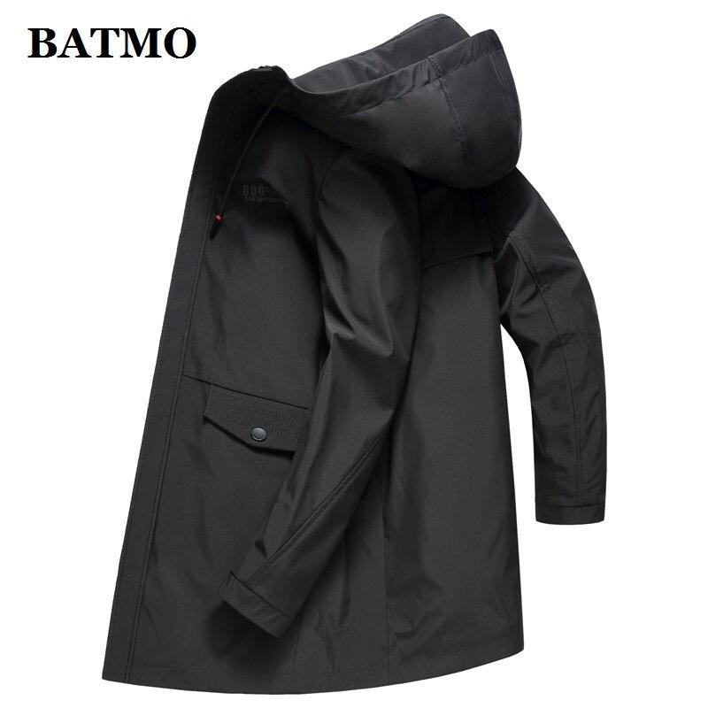 BATMO 2019 Nova primavera verão da marca casual mens jaquetas e casacos dos homens outwear jaqueta com capuz blusão preto mens sobretudo 9503