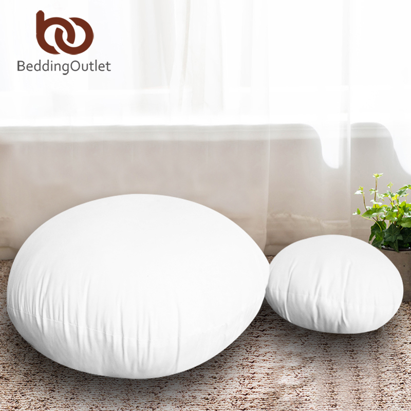 BeddingOutlet Round Cushion Insert For Car Sofa Chair Throw Pillow Core Inner Down Alternative Floor Seat Cushion Kussens 45cm