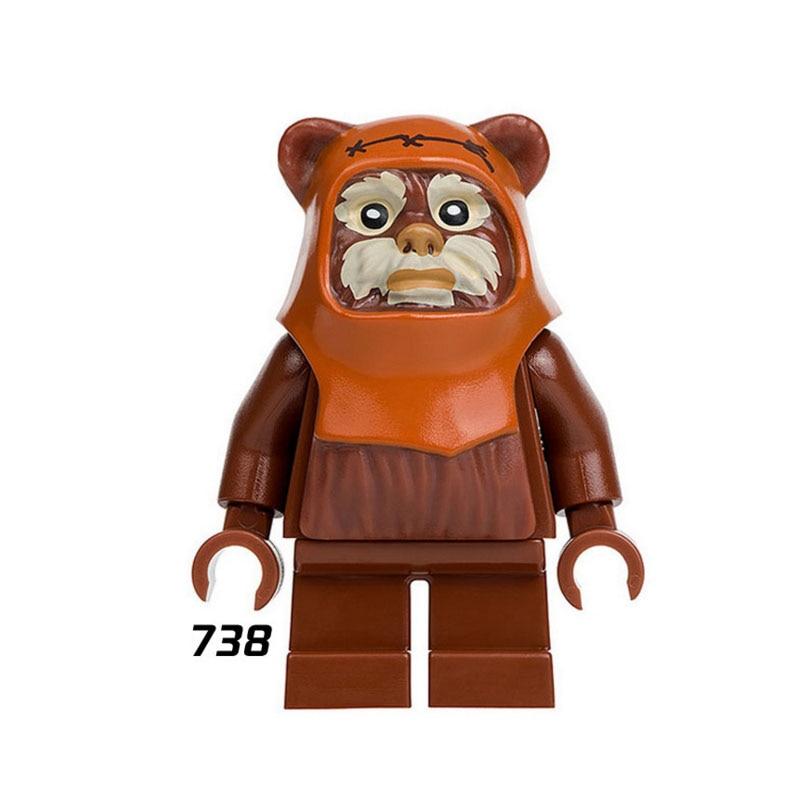 Single Sale Super Heroes Star Wars 738 Ewok Village Wicket Building Blocks Figure Bricks Toy Kids Gift Compatible Legoed Ninjaed