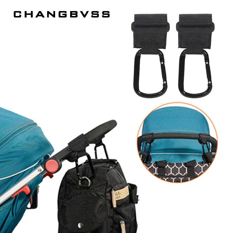 2Pcs/Lot Baby Stroller Hook Strong Hanger For Baby Pushchair Prams Poussette Hook Stroller Organizer Hanger Hook For Diaper Bags