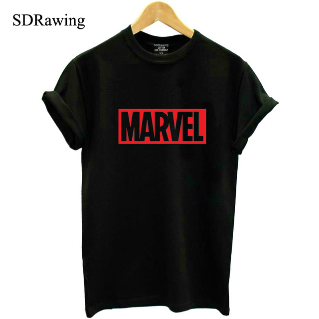 d14d0d58 NEW 2018 MARVEL t Shirt woman cotton short sleeves Casual male tshirt  marvel shirts tops Graphic Tees plus size